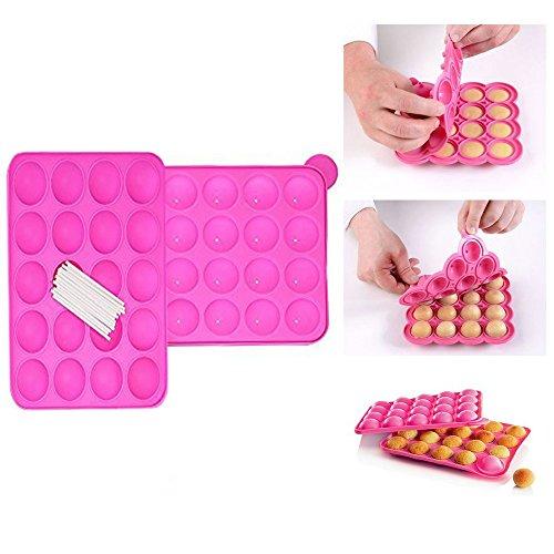 Silicone Cake Pop Stampo,Xrten 20 Cakepops Può Essere Usato per Fare Focaccine di Biscotti Lecca-lecca