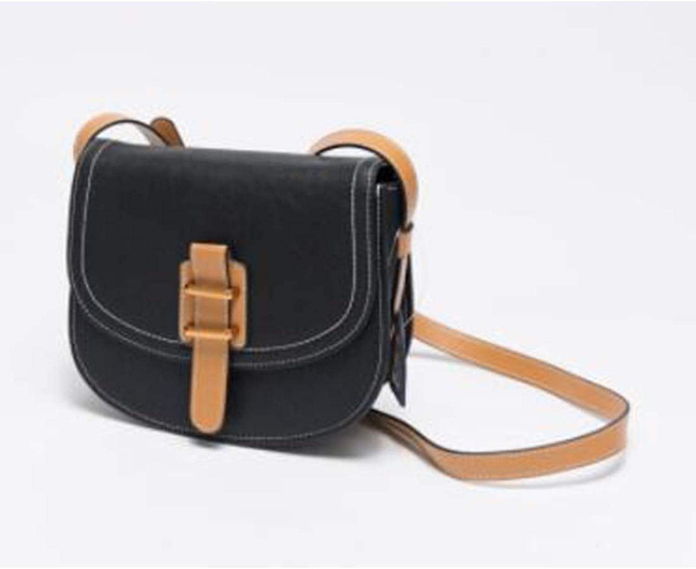 Jiuyizhe Große Kapazität Schulter zurück Diagonal Tasche Tasche Tasche Damen Leder Schultertasche (Farbe   schwarz) B07MP4CQ39 1d1092
