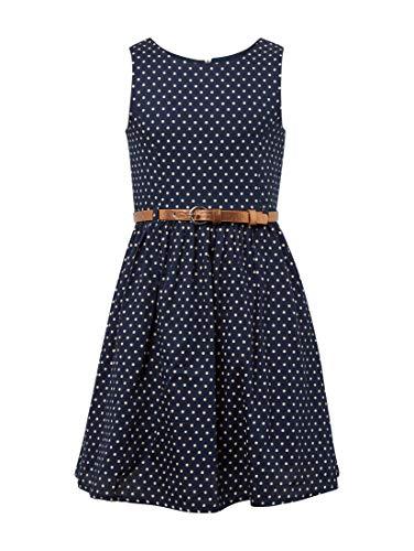 TOM TAILOR Kids Mädchen Dress Patterned Kleid, Blau (Black Iris 3800), 104 (Herstellergröße: 104/110)