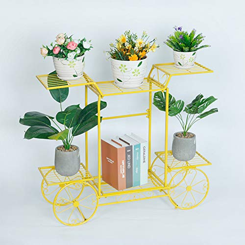 Foxorex Soporte de metal para plantas, soporte de hierbas de metal, para jardín, patio, 6 plantas, maceta de flores, apto para interiores y exteriores