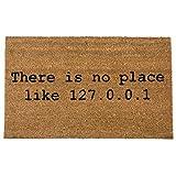 getDigital There is No Place Like Home 127.0.0.1 Fußmatte-Hochwertige Türmatte für Computer-Geeks...