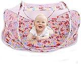 Cuna de viaje plegable para bebés, mosquitera cuna de viaje para bebés cuna portátil mosquitera cunas portátiles para 0-3, anti mosquitos-pink_pattern