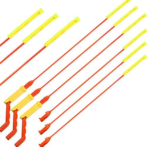 Ablauf Waschbecken Schlangen Ablauf Verstopfung Entferner Reinigungswerkzeug für Haarablauf Entlastungsbohrer Abfluss Verstopfung Entfernung Kit mit Drehgriff und Mikrohaken Nachfüllstäben (6 Stücke)
