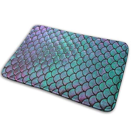 kasonj welcome Doormat For Indoor Outdoor - Purple Cyan Green Shiny Scales Home And Office Decorative Entry Rug Garden/Kitchen/Bedroom Comfort Mats Non-Slip Floor Mat 40x60cm