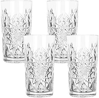 Libbey - Hobstar - Longdrinkglas, Cocktailglas, Wasserglas, Saftglas - 470 ml - Glas - 4er Set - bekannt aus den coolsten Hotels und Bars