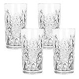 Libbey - Hobstar - Longdrinkglas, Cocktailglas, Wasserglas, Saftglas - 470 ml - Glas - 4er Set -...