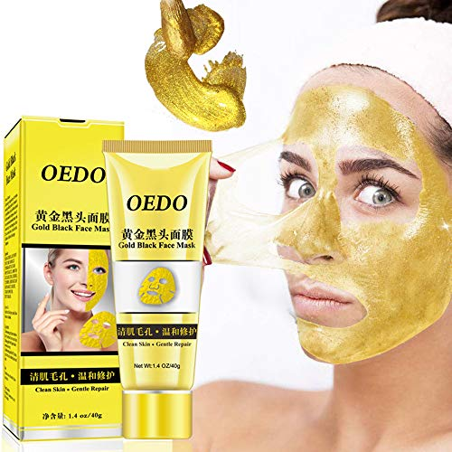 Gold Blackheads Remover Face Mask Moisturizing Deep Clean Peel Off Mask, shrink pores and remove blackheads purifying peel off facial mask