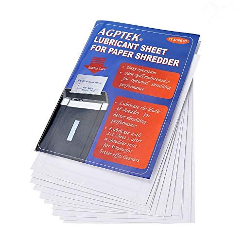 Buy Discount AGPtEK Cross-Cut Paper Shredder Sharpening Lubricant Sheets (Pack of 12)