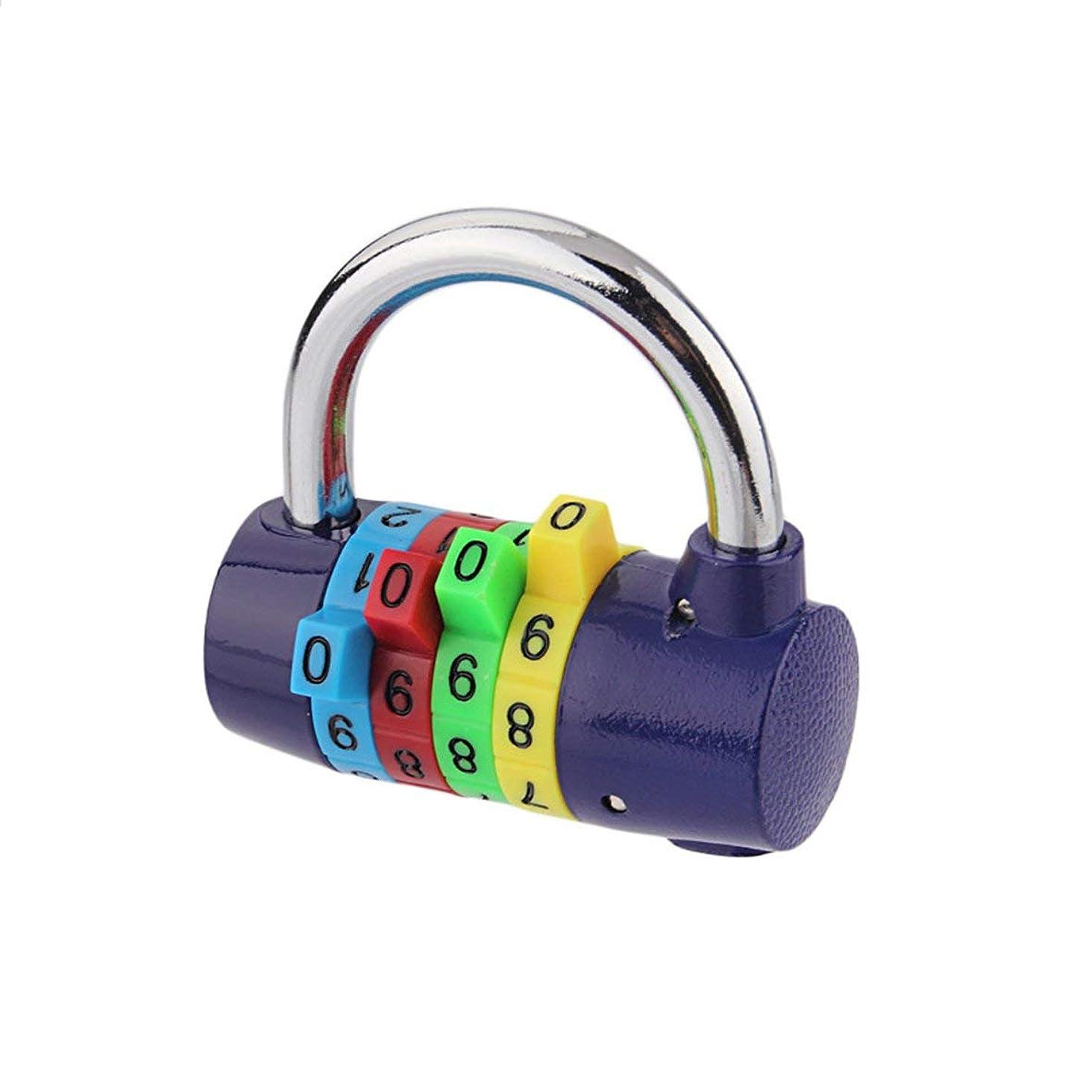 逮捕たらいアクションTivollyff カラー4南京錠ジムパスワードロック盗難防止ワードローブロック150 G多色