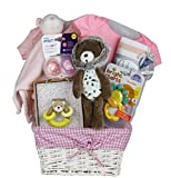 Vania's Baby Gift Basket Baby 1st Luxe Gift - Beautiful Baby Gift Basket - Baby Essentials, Clothes and Toys
