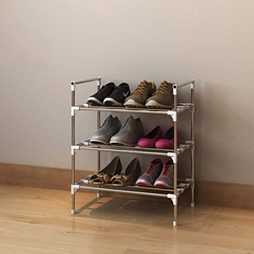 HORS Moderne simple ménage économique en acier inoxydable étagère à chaussures Multi-étages simple stockage multifonctionnel en fer armoire à chaussures Râteliers multi-usages (taille : 45)