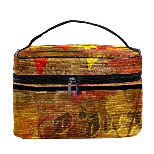 Nature Sea Reef Pattern Makeup Bag Cosmétique Storage Organizer - Trousse de toilette de voyage avec poignée, pinceaux de maquillage, rouge à lèvres
