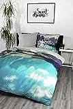 Bettwäsche 100% Baumwolle Design Adventure Begins Bettwaesche 135x200 cm + 80x80 cm Öko-Tex Standard