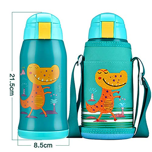 Taza infantil con tubo de pajita para niños y niñas, resistente a los golpes,...