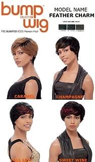 SENSATIONNEL 100% Human Hair Bump Wig Collection FEATHER CHARM (1B)