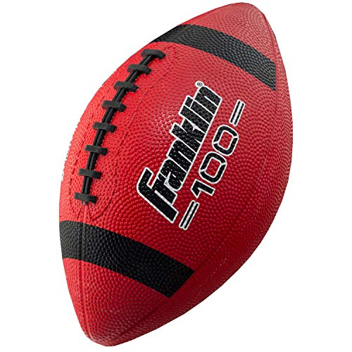 Franklin Sports Grip-Rite 100 Rubber Junior Football (Red or Brown) $4.90 + Free Shipping w/ Prime or $25+