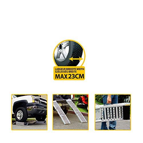 Autoselect Réf 507054 2 rampes de Levage Pliantes Multifonctions rampes d'accès Moto, quads, tondeuses pour Chargement 500 KG par Paire - pour Levage 1,6 tonnes par Paire