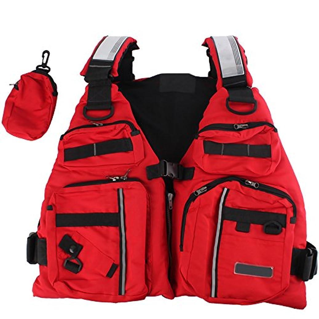 ナイロン並外れてお肉tanchen調節可能大人用ライフジャケット防水布Aid Sailingセーフ釣りサーフィンマルチポケットベスト