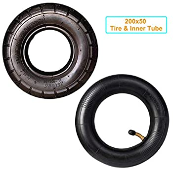 200X50 Tire & Inner Tube Set Replacement Electric Scooter Razor E100 E150 E200 Power Core E100 Dune Buggy ePunk Crazy Cart PowerRider 360 eSpark with 8 Inch Universal Tire & Inner