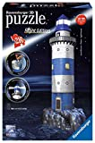 Ravensburger- Lighthouse at Night Puzzle Phare, Color Autre (125777)