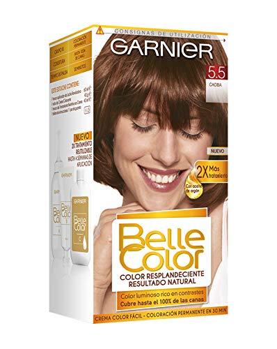 Garnier Belle Color Coloración de aspecto natural y cobertura completa de canas con aceite de germen de trigo - Caoba 5.5