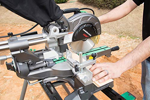 "Metabo HPT C8FSHES 8-1/2"" Sliding Compound Miter Saw, Laser Marker, LED Light, 9.5 Amp Motor, Adjustable Pivot Fence, 5 Year Warranty"
