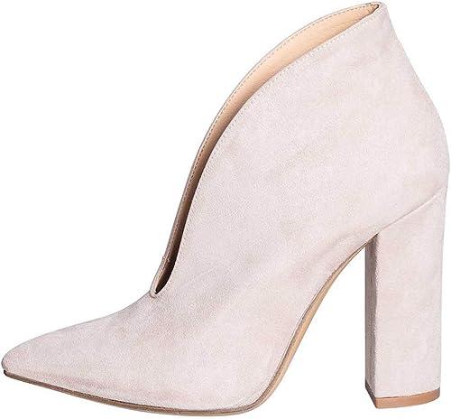 Chaussures Femme en Choix Taupe Clair Taille NUMéRO 38 en VéRIEL Cuir avec Tache Large Hauteur 10 CM FABRIQUé en Italie Azalea Studio Creations ACT-18 Chaussures Rose Clair Elegante FEMMINLE