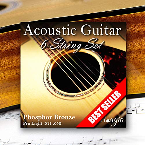 Adagio Pro Light Acoustic Guitar Strings Full Set/Pack - Gauge 11-50...