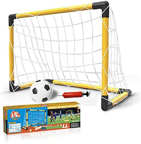 HSWYJJPFB Portería de Fútbol Red de Fútbol para Niños Portería de fútbol portátil para niños Soporte de Baloncesto para portería de fútbol 0917(Color:Yellow;Size:64x30x47cm)