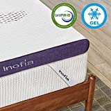 <span class='highlight'>Inofia</span> <span class='highlight'>Gel</span> <span class='highlight'>Memory</span> <span class='highlight'>Foam</span> <span class='highlight'>Mattress</span> <span class='highlight'>Topper</span> <span class='highlight'>Double</span>, 8CM Firmness <span class='highlight'>GEL</span>EX Bed <span class='highlight'>Topper</span> with Washable Cover, Pressure Relief | Sleep Cooler, 2 Layer <span class='highlight'>foam</span> <span class='highlight'>topper</span> for Rest Easy, 100-Night Home Trail (135x190)