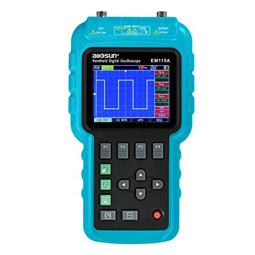 all-sun 3 In1 Digital Oscilloscope Handheld With Usb Multifunction Digital Scope Multimeter Meter 50Mhz EM115A