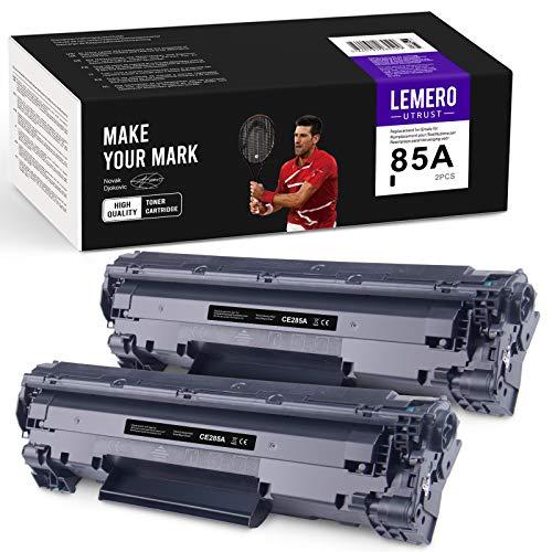 LEMEROUtrust CE285A Cartuchos de tóner Compatible para HP 85A para HP Laserjet Pro P1102W P1102 M1132MFP M1217NFW M1212NF M1132 P1100 M1136 M1210 M1212 M1130 Impresora (2-Negro)