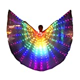 LED Isis Wings Glow Light Up Belly Dance Costumes Burning Man Rave Costume Performance Clothing Carnival Halloween