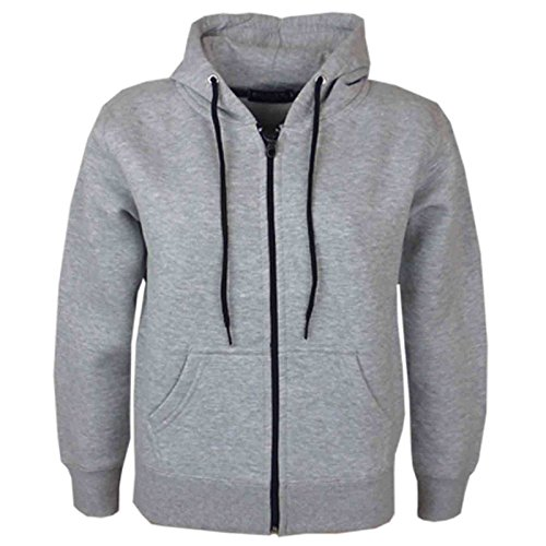 shelikes Unisex Hoodies Kids Zip Up Hooded Plain Jacket Casual Jacket...