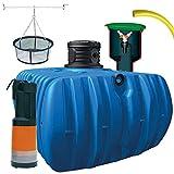 atout Regenwassertank Flat S Garten-Comfort Flachtank-Paket Flat Flachtank 1500 L inkl. Schachtverlängerung (Flat Komplettpaket Garten-Comfort, 5000 L)