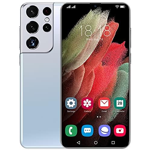 Moviles Baratos S12 Android 11 6.7', 4GB + 64GB, 6800mAh Smartphone, Cámara De 50MP, Cámara Frontal 32MP, Ranura para 2 Tarjetas, OTG, Huella Digital, 5G Dual SIM,White