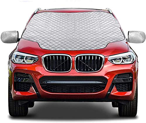 Gintenco Car Windshield Snow Cover, Frost Ice Windscreen Covers with Magnetic Edges, 4 Layers...