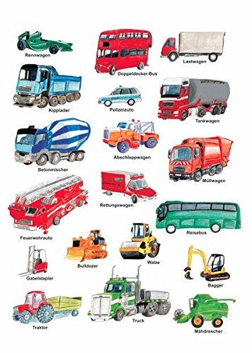 Meine Fahrzeuge: 10 Postkarten im Pack + 1 Karte gratis