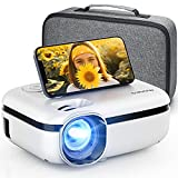 MOOKA WiFi Projector, 7500L HD Outdoor Mini Projector with Carrying Bag, 1080P & 200' Screen Supported, Movie Home Theater for TV Stick, Video Games, HDMI, USB, AUX, AV, PS4, Laptop, iOS & Android