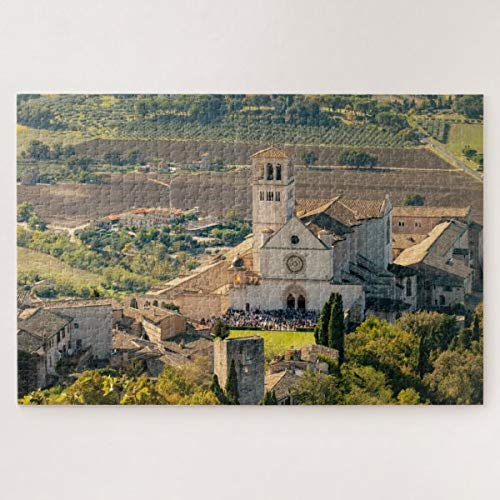 CICIDI Saint Francis Basilica in Assisi, Italy Jigsaw Puzzle 1000 Pieces for Adult Entertainment DIY Toys , Graet Gift Home Decor