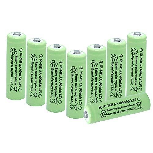 BAOBIAN AA 600mAh 1.2V NiMH Rechargeable Batteries for Solar Light,Solar Lamp,Garden Lights Green(8 PCS)