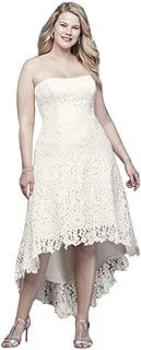 High-Low Tea-Length Lace Plus Size Wedding Dress Style 9WG3925