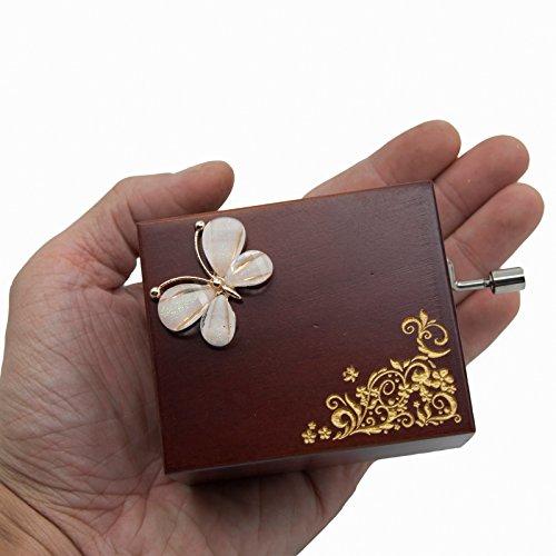 Mini Handcrank Music Box Tune of Fur Elise(Butterfly)
