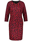 Taifun Damen 480005-11260 Kleid, Mehrfarbig (Lipstick Red Gemustert 6072), (Herstellergröße: 44)