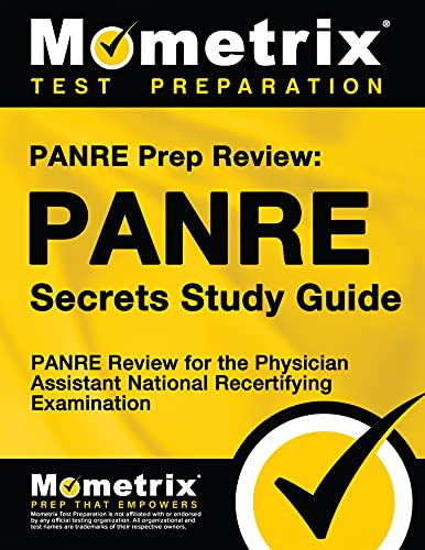 Panre Prep Review Panre Secrets Study Guide Panre Review For The Physician Assistant National Recertifying Examination