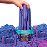 SLIMYSAND by Horizon Group USA, 1.5 lbs of Berry Scented Moldable, Stretchable, Expandable Cloud Slime, Blue & Purple Marbled, Slimy Play Sand in Reusable Bucket, Non Stick, A Kinetic Sensory Activity