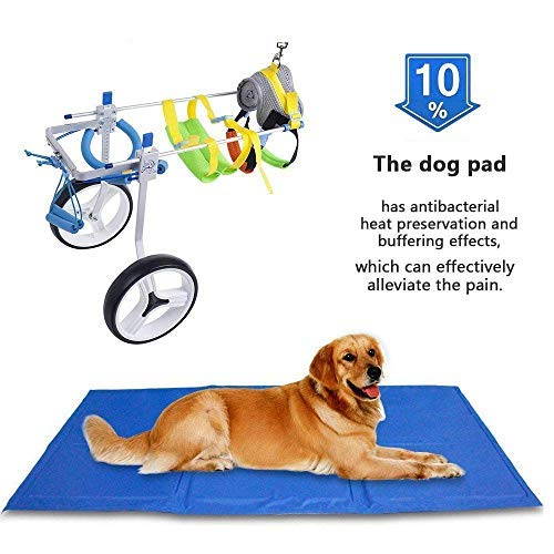 SehrGo Silla de ruedas para perros ajustable, Altura de cadera 7'-20', Peso de 8 a 55 lb, Rehabilitación de patas traseras, Carro para perros de 2 ruedas (M)