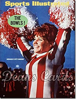 Sports Illustrated - With Label January 2 1967 - Kitty McManus Nebraska Cheerleader (Cornhuskers) (Magazine/Publication) (Has Address Label on Front) Dean's Cards 3 - VG