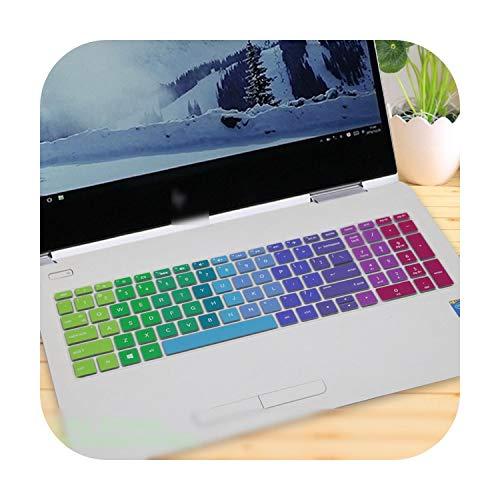 Schutzhülle für HP Envy x360 15 2018 Ryzen für HP Pavilion 15 AMD Ryzen 5 2-in-1 Notebook Laptop Tastaturschutz Regenbogen