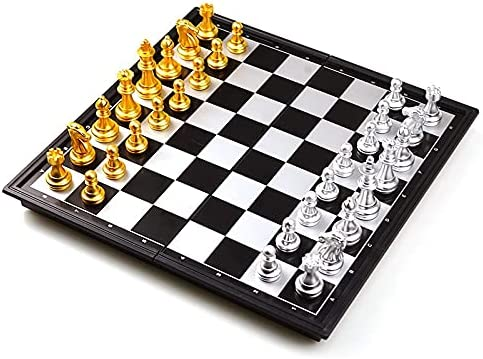 Easy-to-use YTRN Max 62% OFF Chess Set Medieval Classic Folding Chessboar with